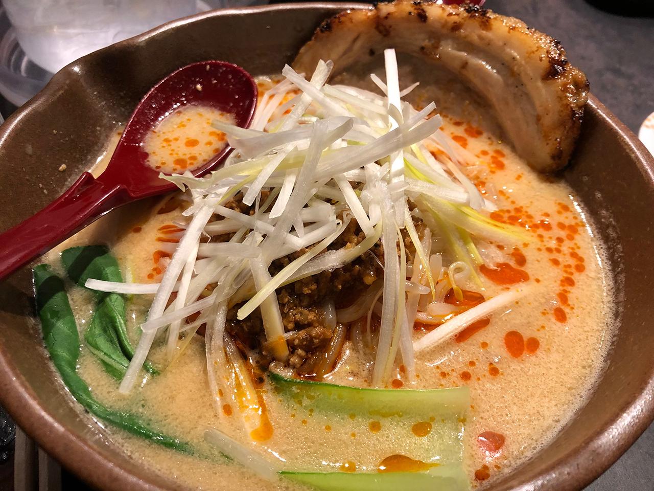 担々麺のアップ写真