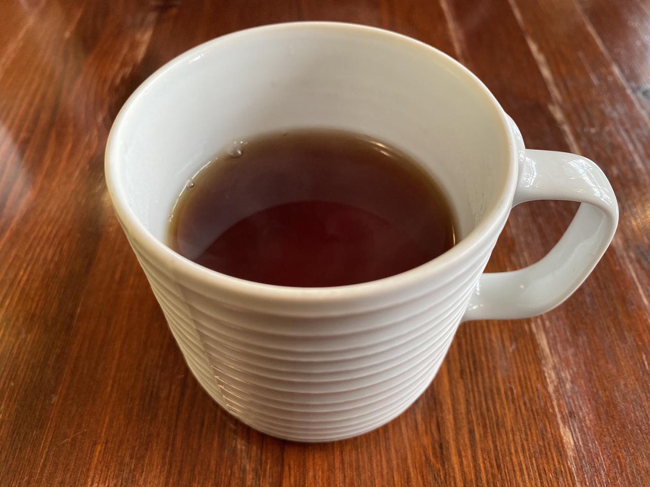 ランチセットの紅茶の写真