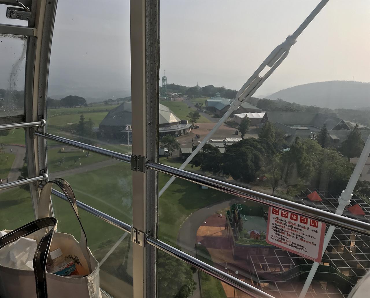 観覧車からの眺望写真