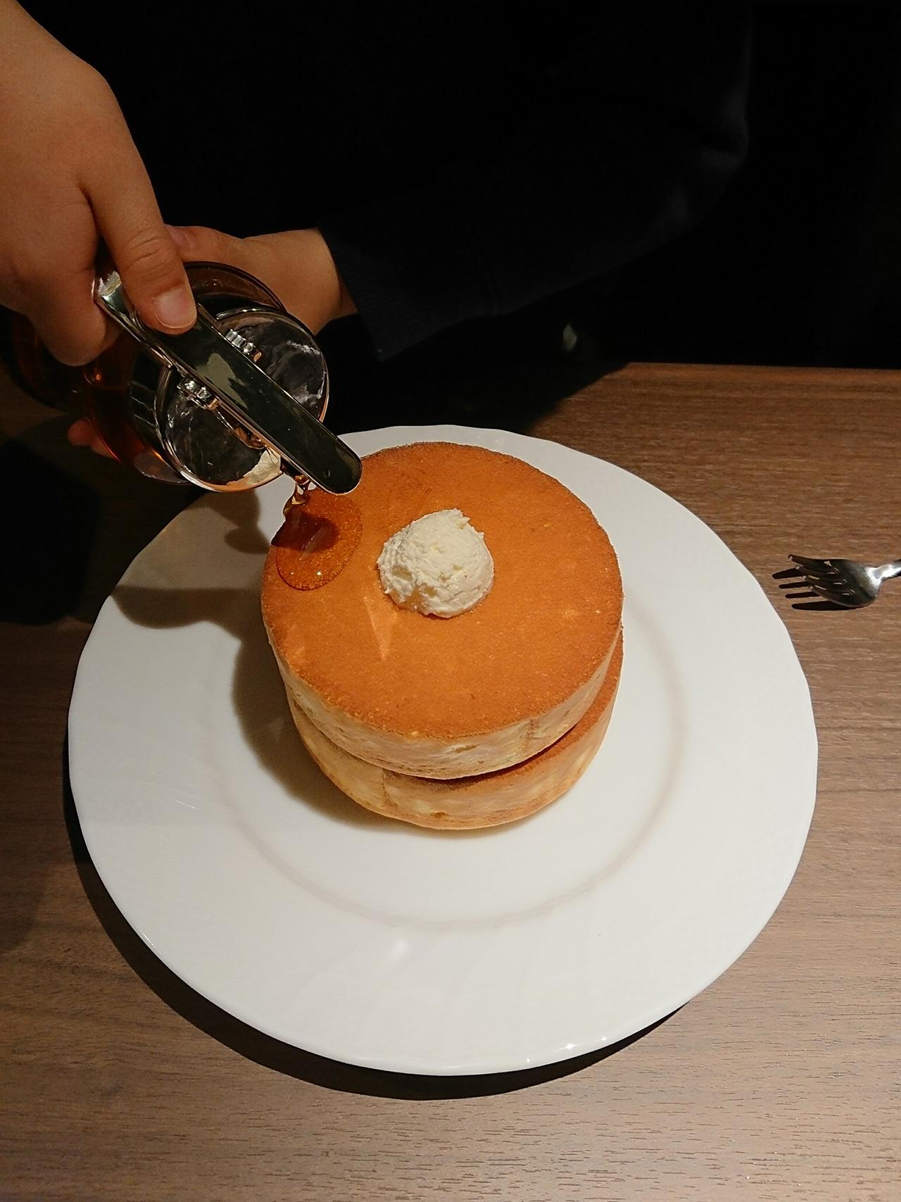 スフレパンケーキの写真