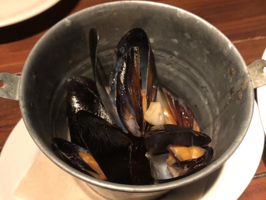 ムール貝のアップ写真