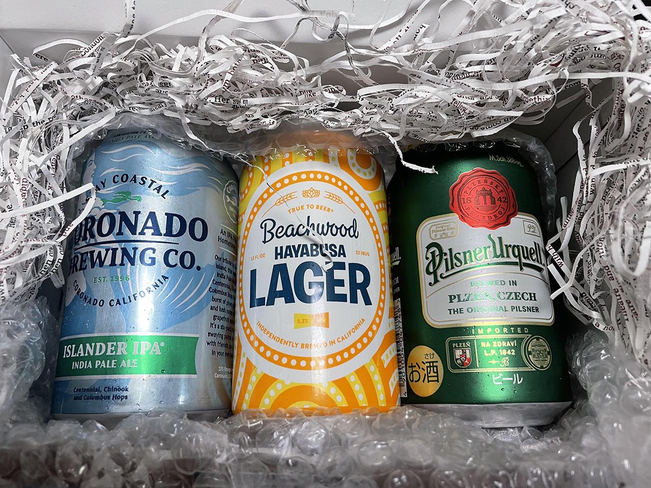 ギフトラッピングしたクラフトビールの写真