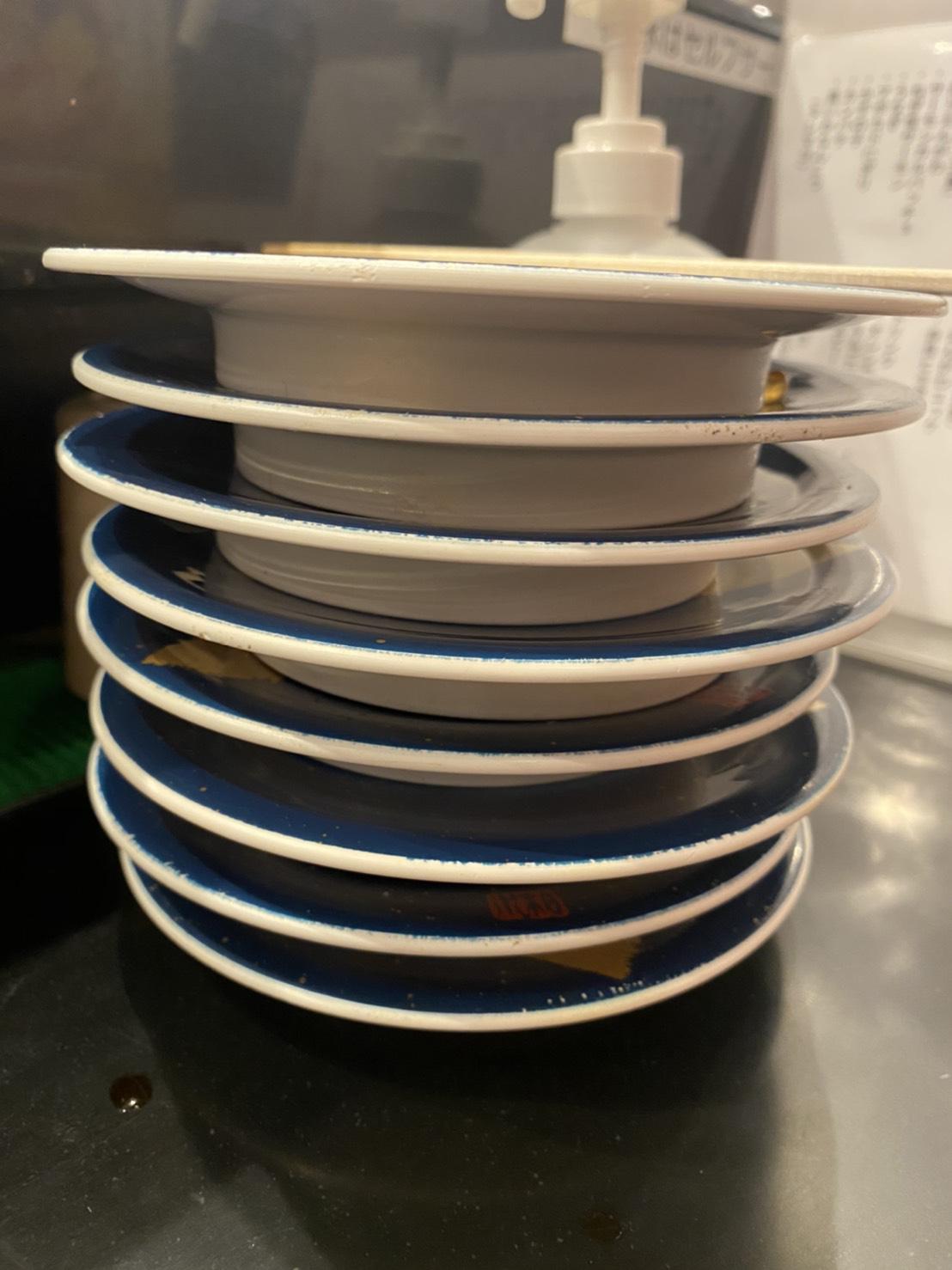 食べ終えたお皿の写真