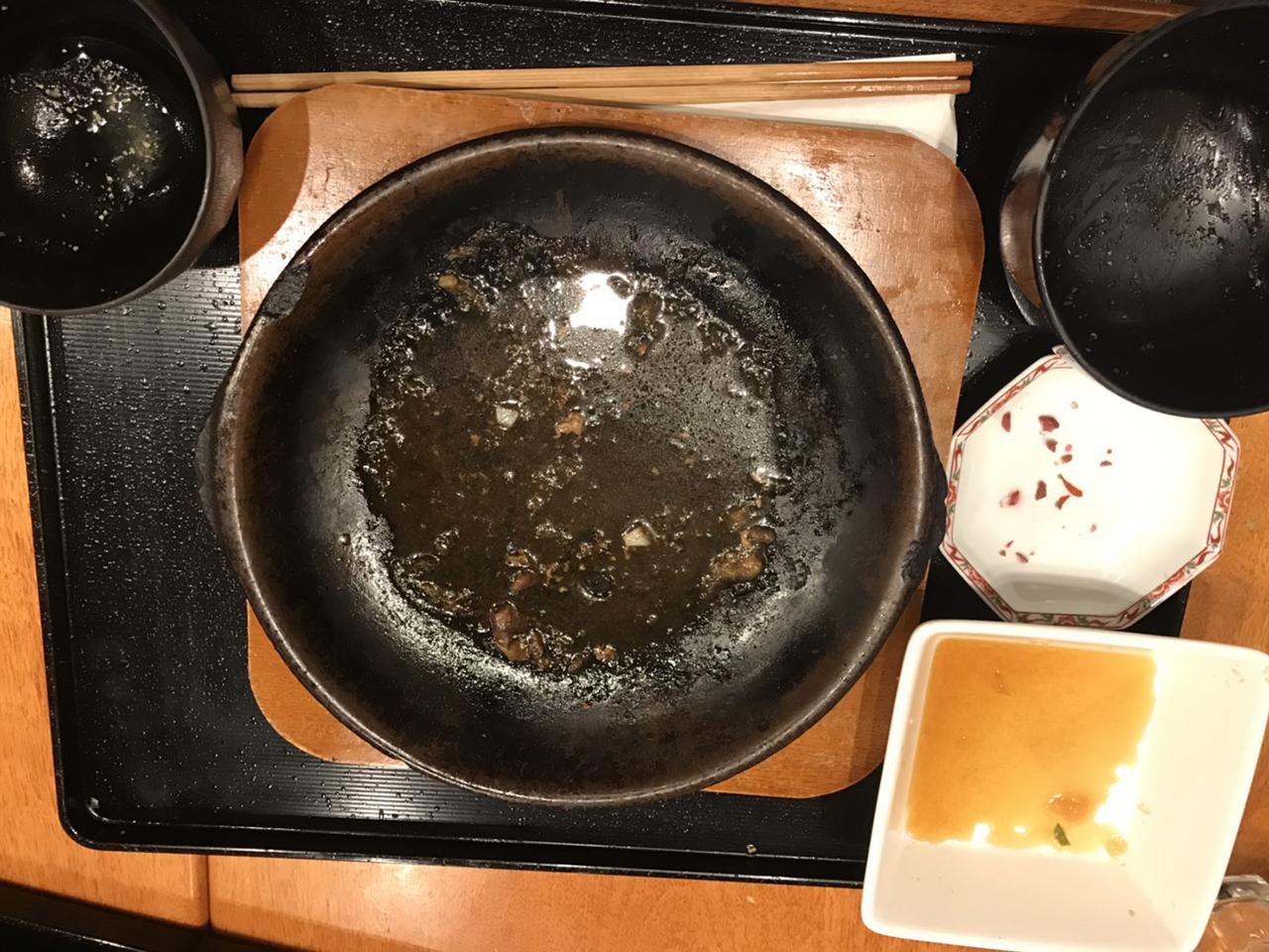 食べ終わったお皿の写真