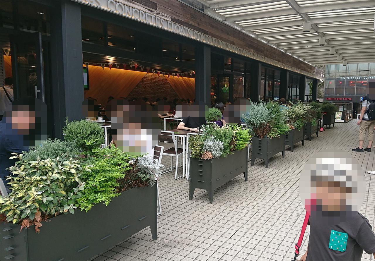 オープンテラス店舗外観の写真