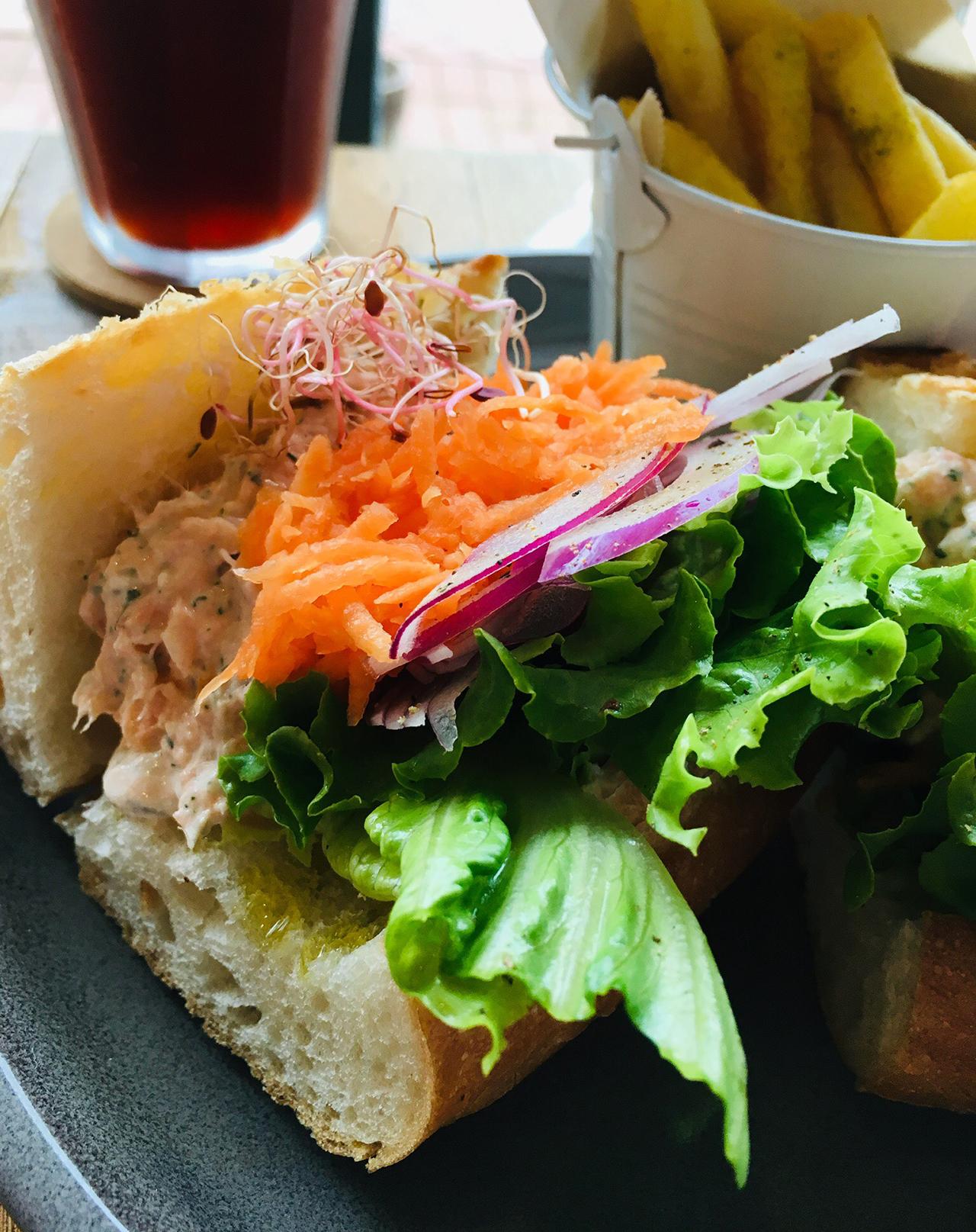 サンドイッチのアップ写真