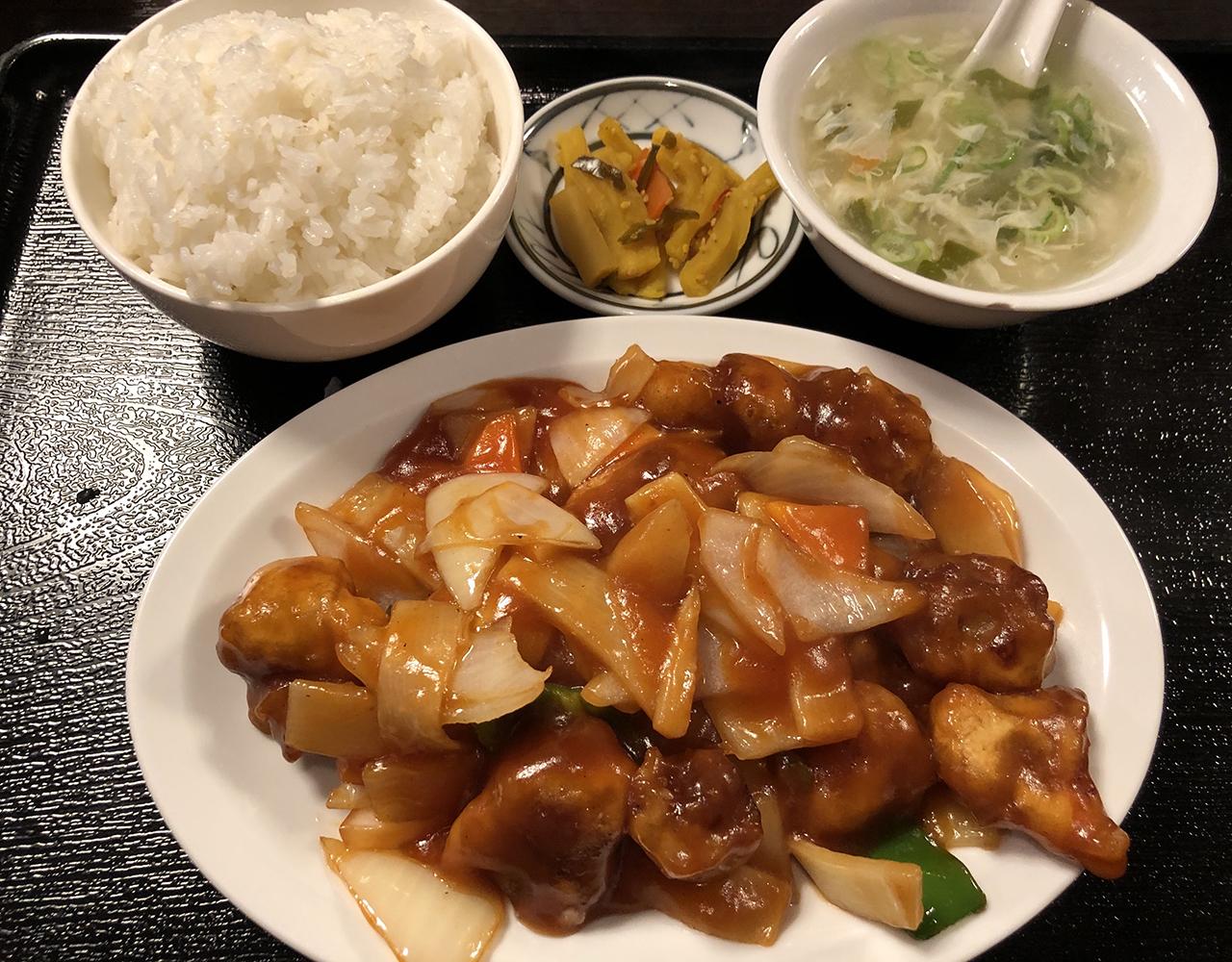 酢豚定食の写真