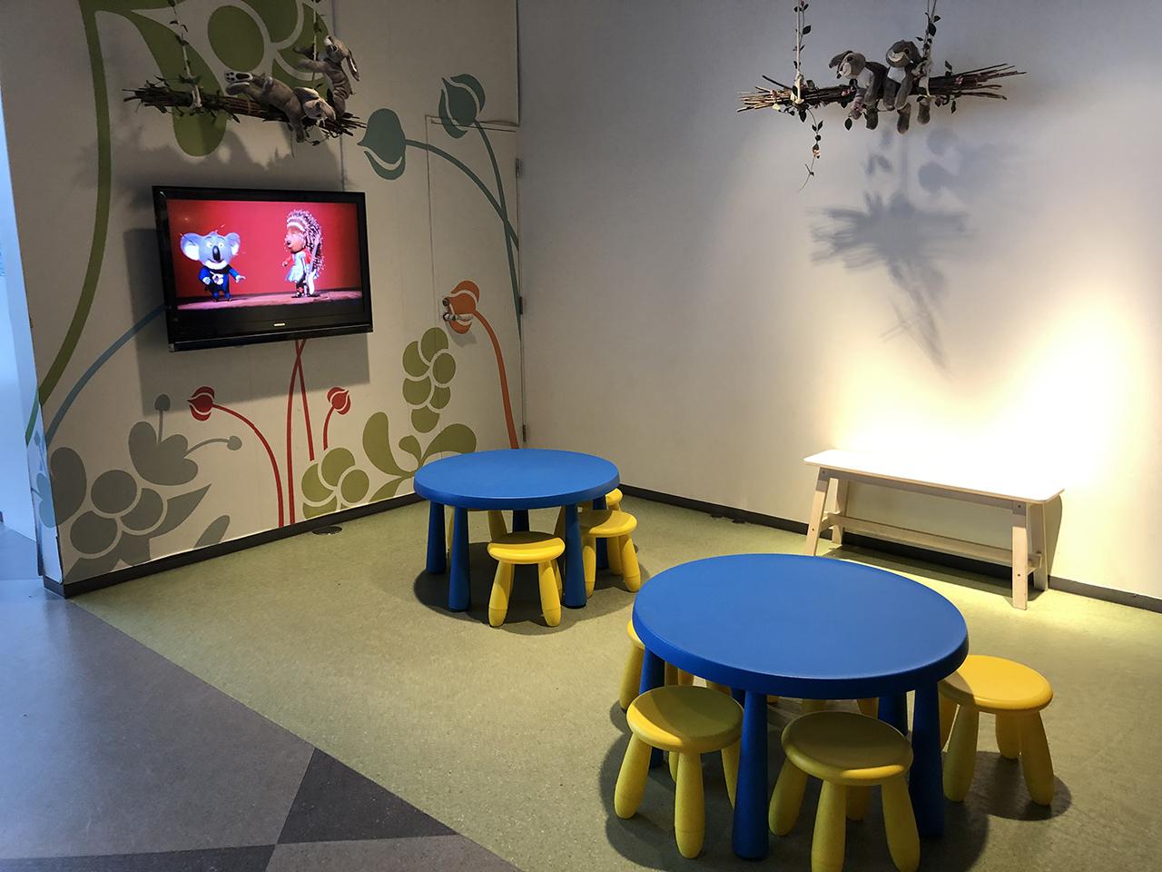 IKEAレストランのキッズスペースの写真