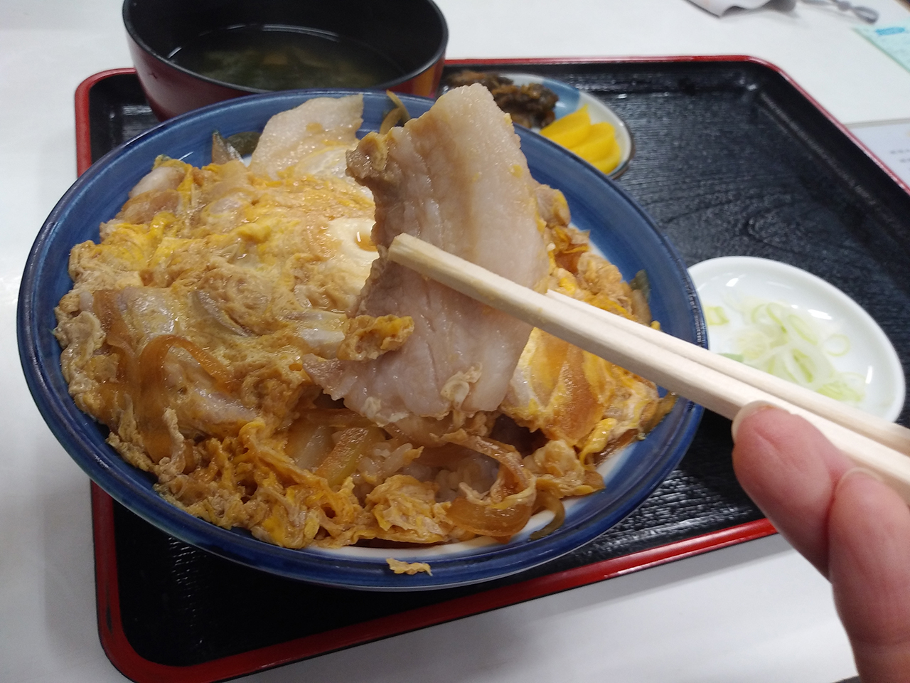 開花丼のアップ写真