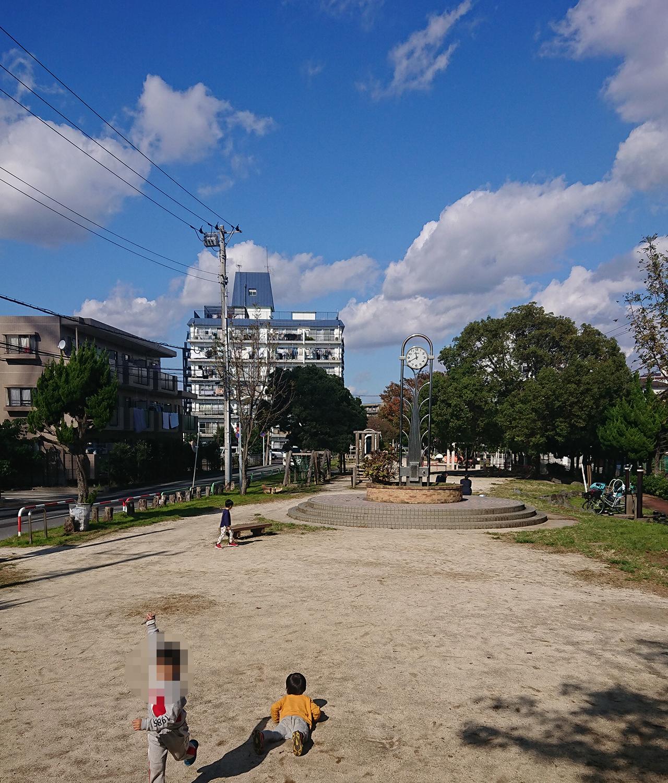 公園広場の写真