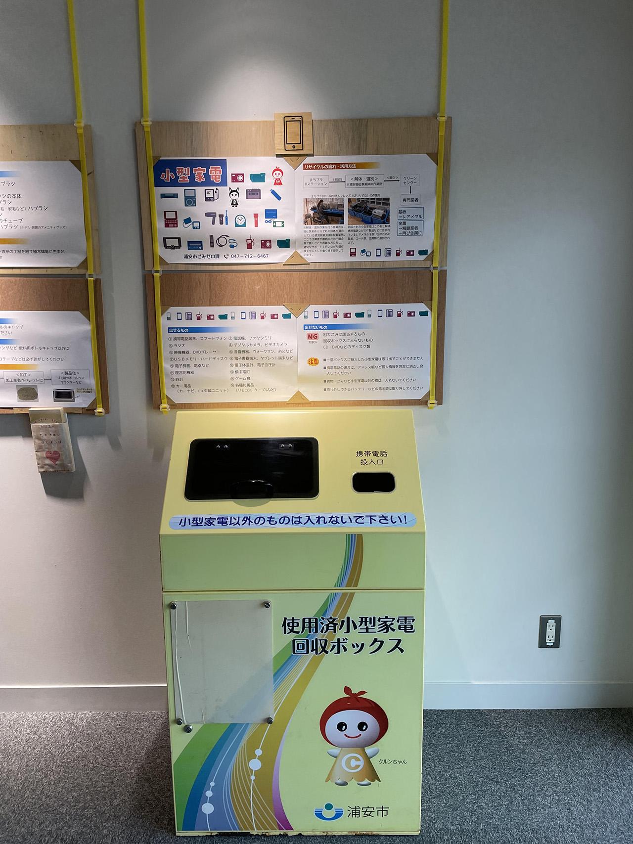 使用済小型家電回収ボックスの写真