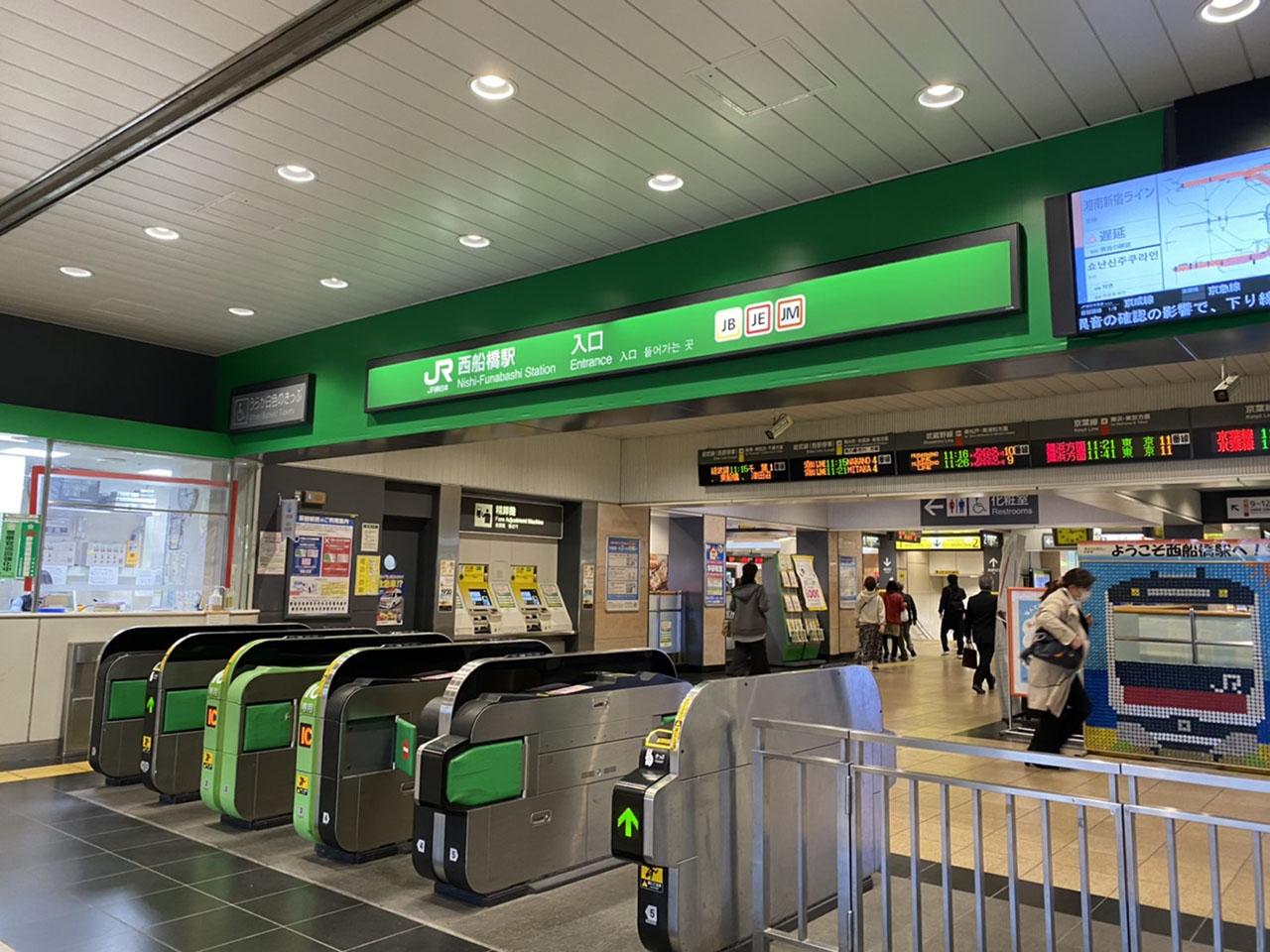 西船橋駅改札の写真
