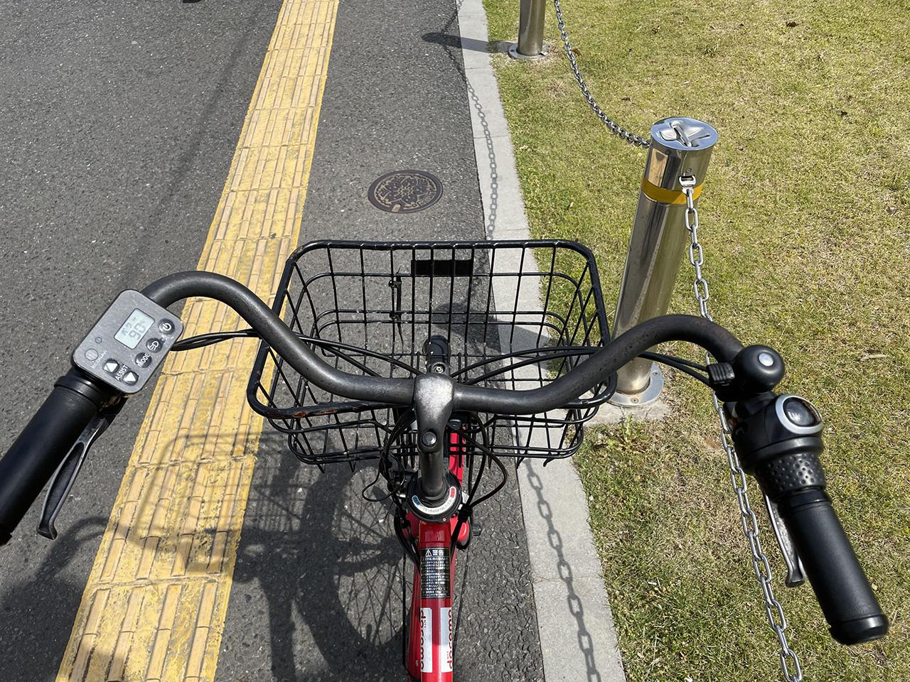 登録する自転車の写真