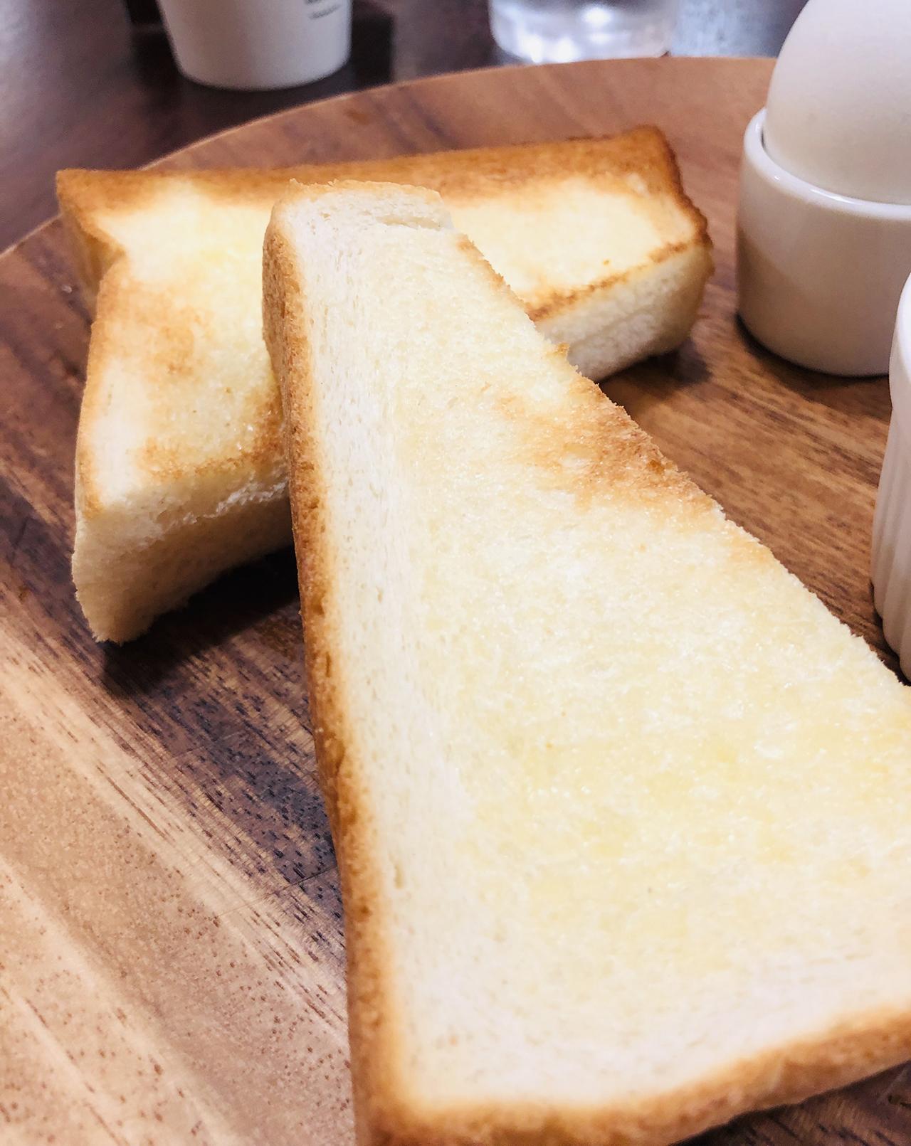 トーストのアップ写真