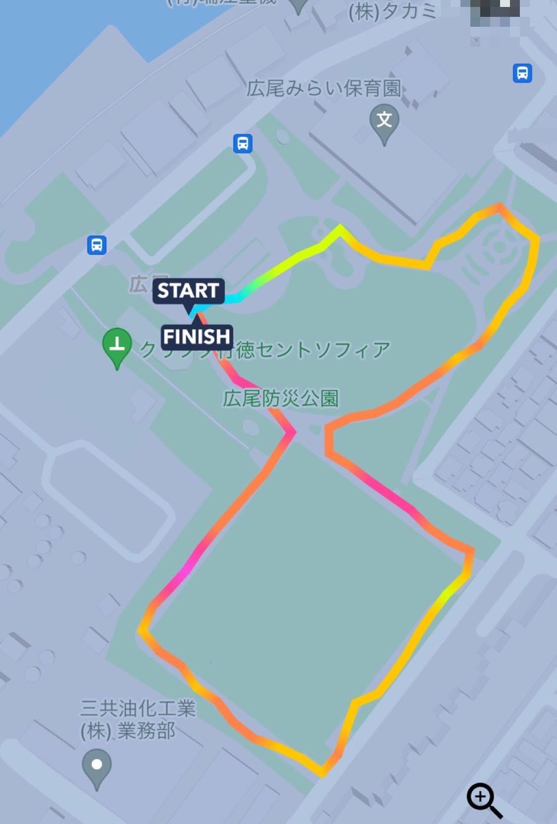 ジョギングコースの地図の写真