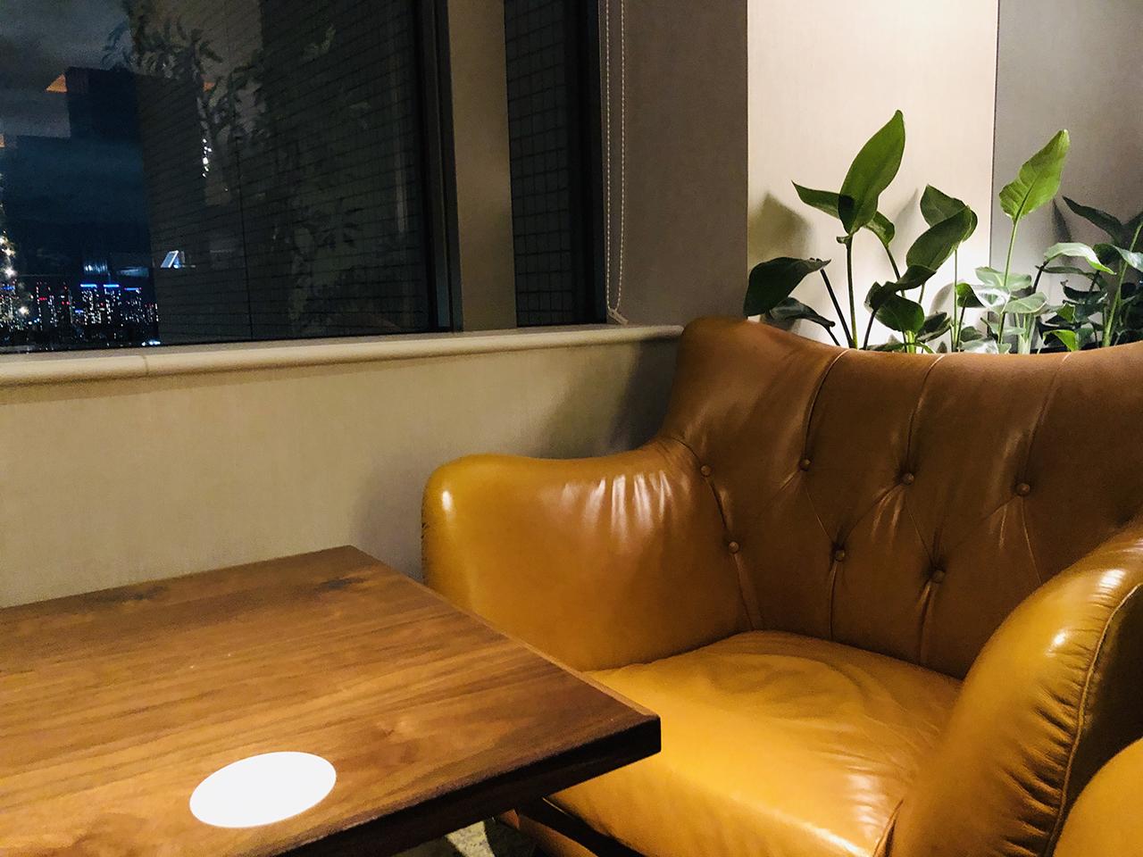 ソファ席の写真
