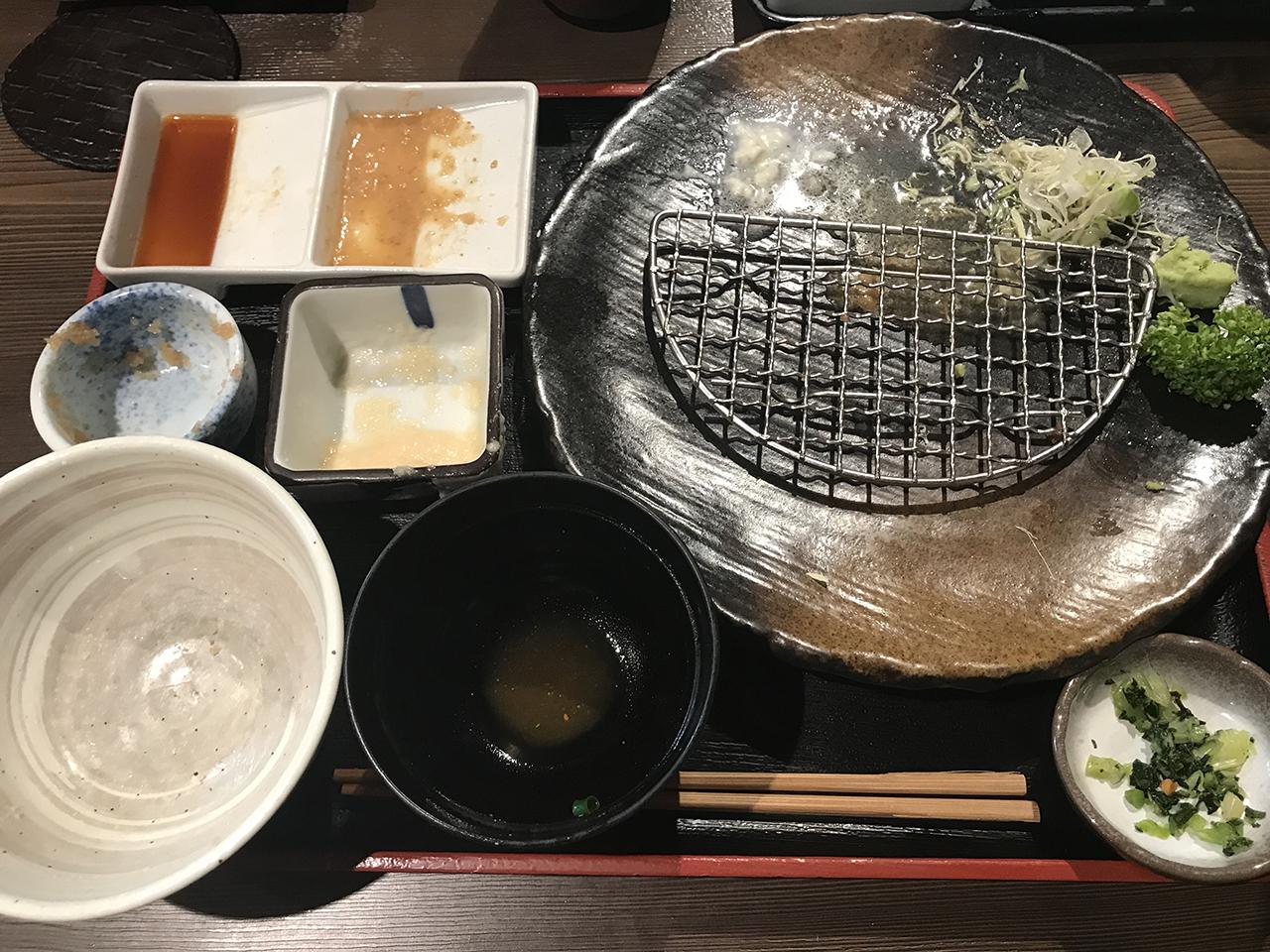 食べ終わった後のお皿の写真