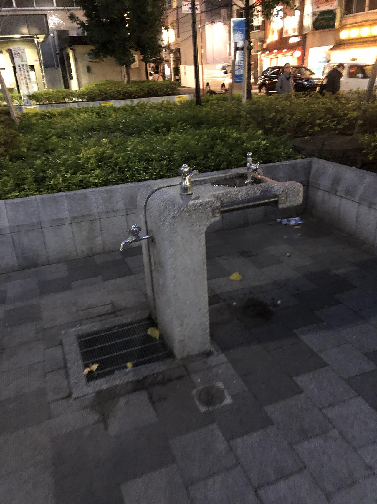水飲み・手足洗い場の写真
