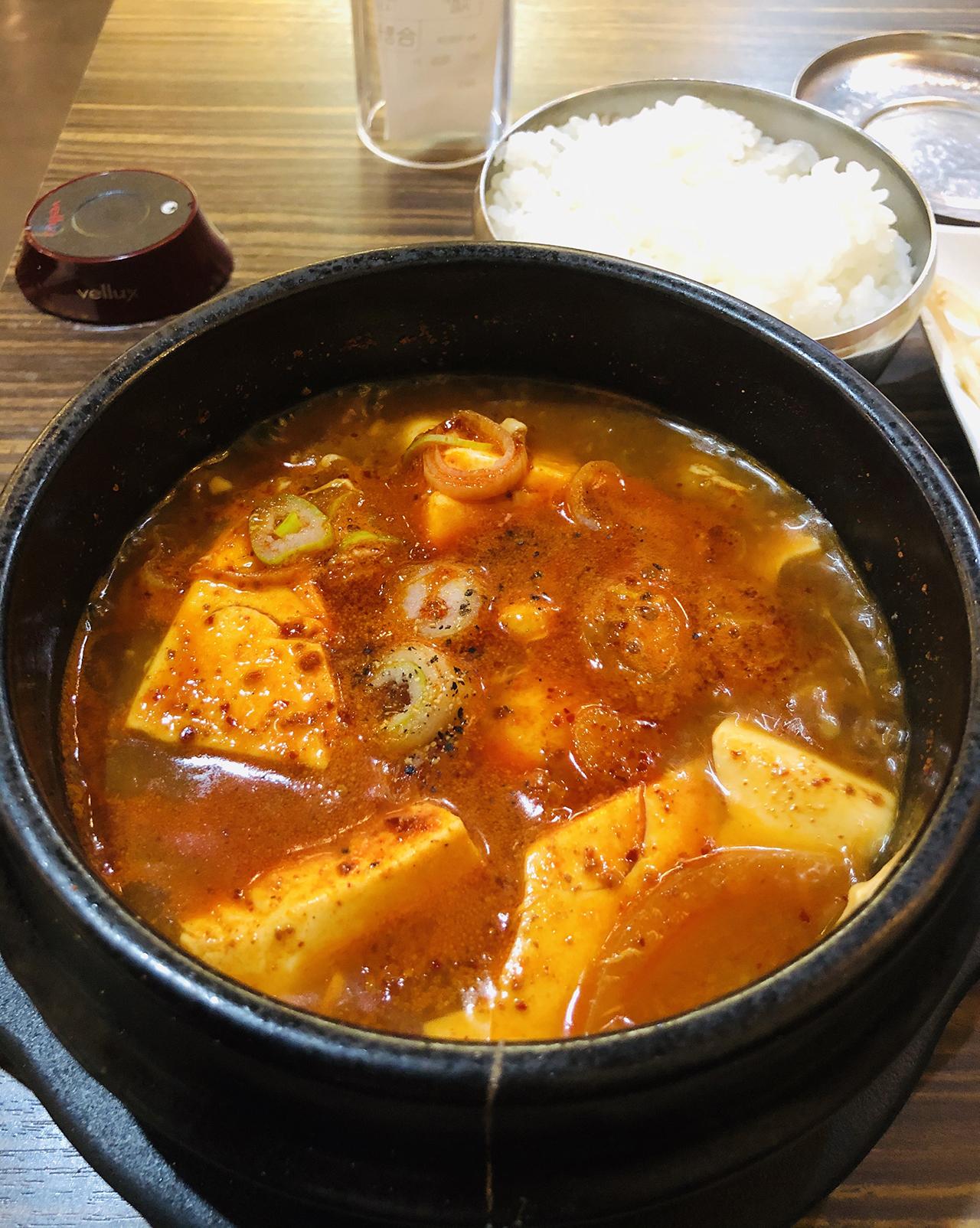 純豆腐チゲのアップ写真