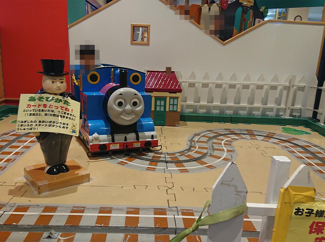 トーマスの乗り物の写真